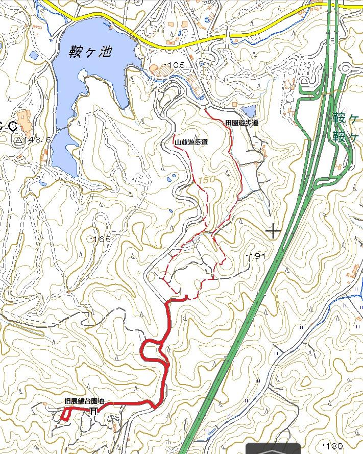 鞍ヶ池-旧展望台園地ハイキングコース