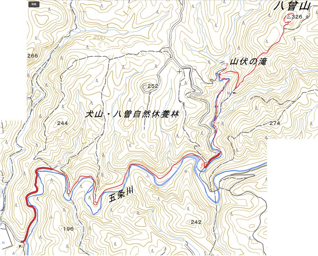 八曽自然休養林(八曽山登山)ハイキングコース
