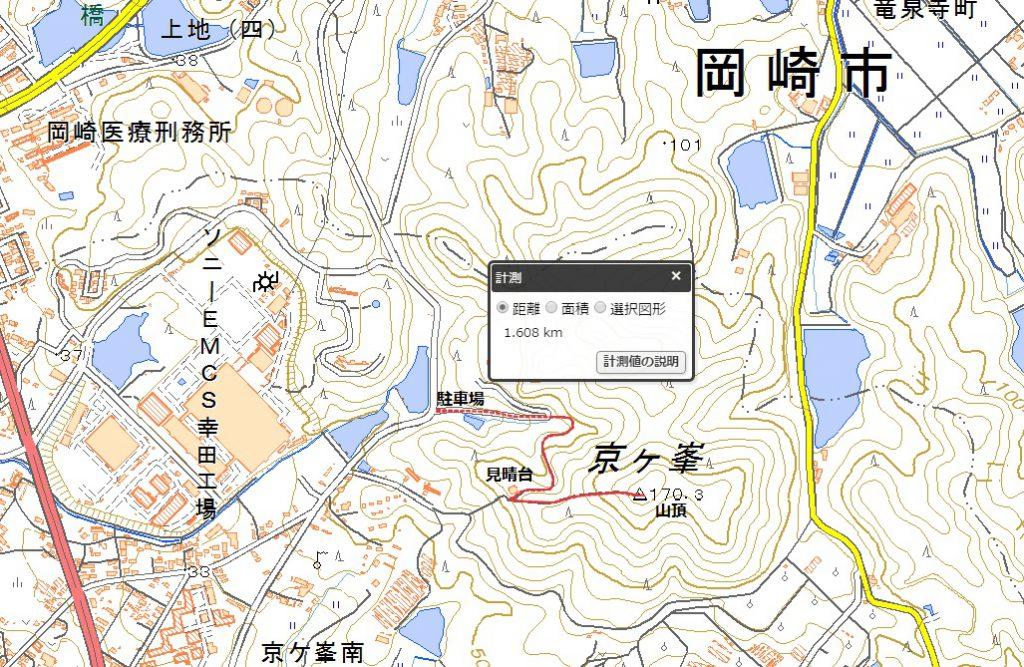 京ヶ峯ハイキングコース