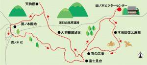 面ノ木園地案内図