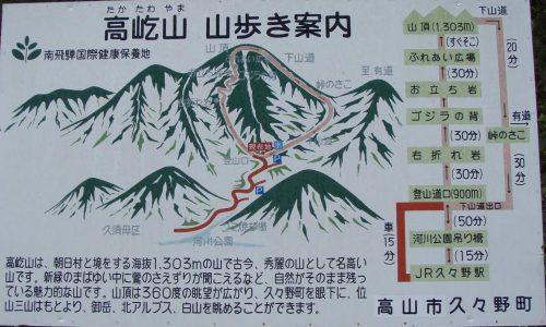 高屹山 山歩き案内図