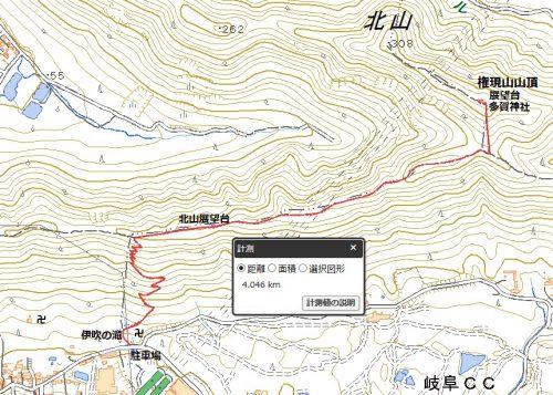 各務原権現山ハイキングマップ