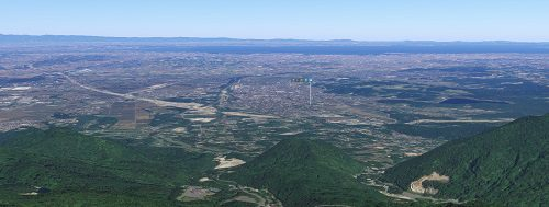 菰野富士の上空からの風景