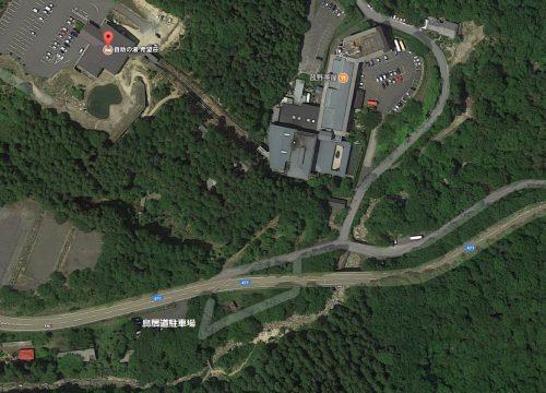 鳥居道駐車場マップ
