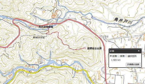 菰野富士ハイキングマップ