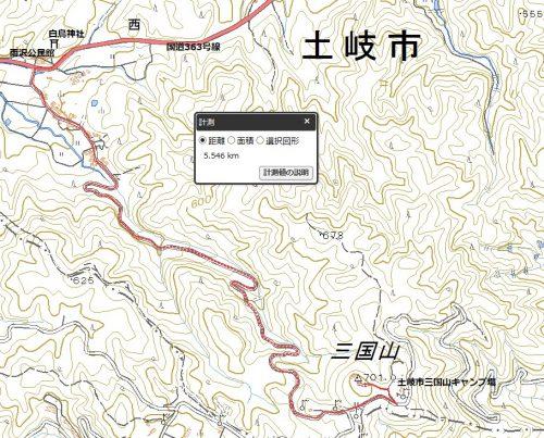 三国山(701m)ハイキングマップ