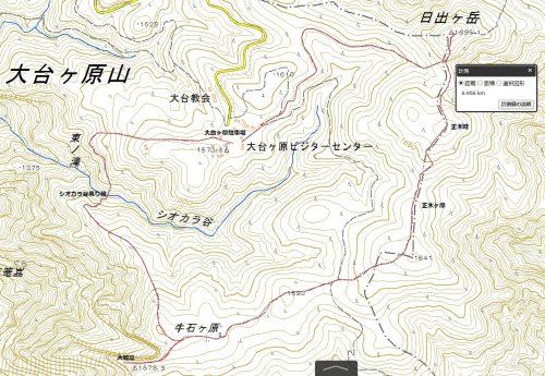 大台ケ原ハイキングマップ