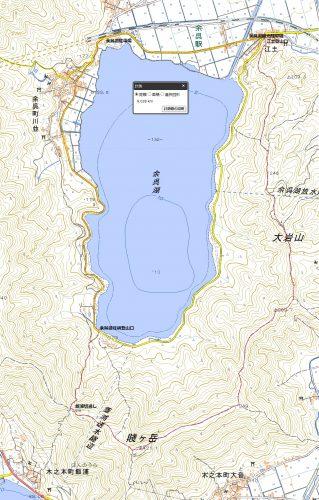 賤ケ岳-余呉駅起点ハイキングマップ