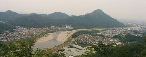 東海自然歩道 松尾池-古津風景
