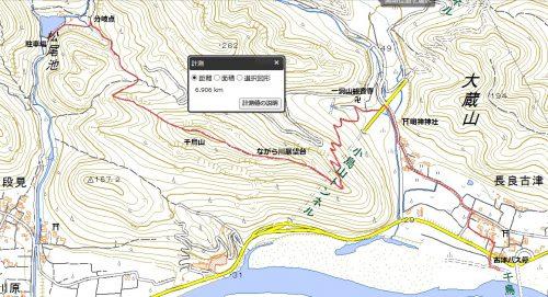 東海自然歩道 松尾池-古津ハイキングマップ