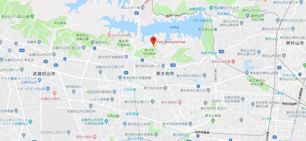 東大和狭山緑地アクセスマップ