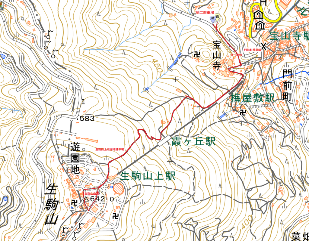 宝山寺ー生駒山ハイキングコース