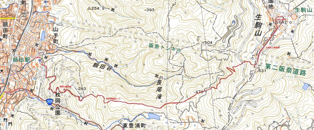 牧岡公園-生駒山ハイキングコース